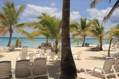 在热带海滩的假期 加勒比手段 库存图片