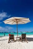 在热带海滩的Chistmas 库存图片