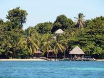 在热带海滩的手段 免版税库存照片