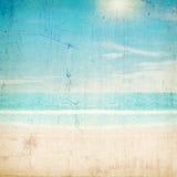 在热带的星期日的海滩 从我的股份单的抓痕纹理 免版税图库摄影