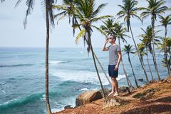 在热带目的地的田园诗天 库存图片