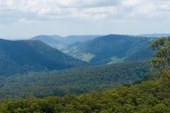 在热带雨林视图的美丽的谷从上面 免版税库存照片
