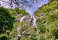 在热带雨林Khong Lan瀑布的瀑布,泰国 免版税库存照片
