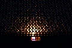 在热气对流器的火 热 免版税库存图片