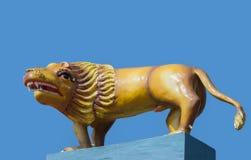 在热雕象的狮子 库存照片