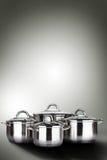 在烹调罐的蒸汽 库存照片