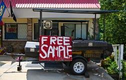 在烹饪器材的免费样品标志 免版税库存照片