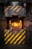 在焚秽炉的火焰 免版税库存图片