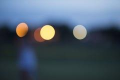 在焦点外面色的光 免版税库存照片
