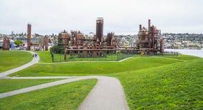 在煤气厂的美好的步行在西雅图-西雅图/华盛顿- 2017年4月11日停放 免版税图库摄影