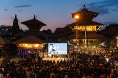 在照片加德满都2018年节日的Prabal古隆采访,在帕特 库存照片