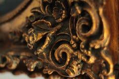 在照片框架的葡萄酒装饰元素 库存照片