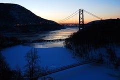 在熊山的冬天早晨 免版税图库摄影