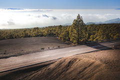 在熔岩流的风景高速公路 免版税库存图片