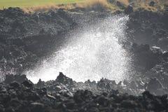 在熔岩的海洋断裂 免版税图库摄影