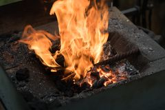 在熔炉的火焰 图库摄影