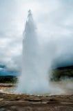 在爆发的喷泉 库存照片