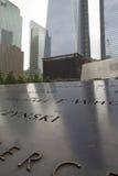 在爆心投影的9/11纪念品(NYC,美国) 库存图片
