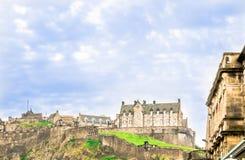 在爱丁堡城堡的看法 免版税库存图片