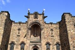 在爱丁堡城堡的苏格兰全国战争纪念建筑 免版税库存照片