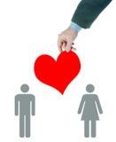 在爱关系的斡旋人之间 免版税库存图片