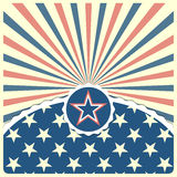 在爱国镶边背景的星 免版税库存图片