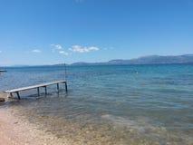 在爱奥尼亚海的看法 免版税库存照片