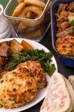 在爱尔兰壮健炖煮的食物的牛肉用饺子 图库摄影