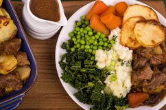 在爱尔兰壮健炖煮的食物的牛肉 库存图片