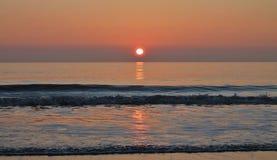 在爱尔兰海的日落 免版税图库摄影