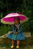 在爱市场节日期间的小女孩在越南 免版税库存图片