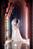 在爱新娘和新郎 免版税图库摄影
