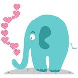 在爱的逗人喜爱的大象 库存照片