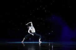 在爱现代舞蹈的苍鹰树 免版税图库摄影