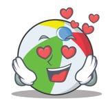 在爱球字符动画片样式 免版税库存图片