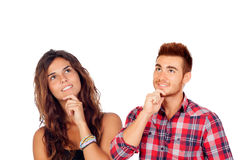 在爱的周道的年轻夫妇 免版税图库摄影