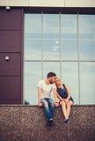 在爱的夫妇和浪漫 免版税库存照片