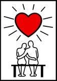 在爱的夫妇 免版税图库摄影