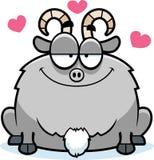 在爱的小的山羊 皇族释放例证