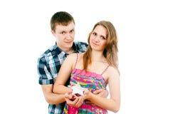 在爱的愉快的夫妇 免版税库存照片