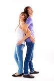 在爱的愉快的夫妇 免版税图库摄影