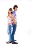 在爱的愉快的夫妇 免版税库存图片