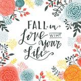 在爱的秋天与您的生活 库存照片