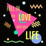 在爱的秋天与您的生活 免版税图库摄影