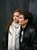 在爱的美好的夫妇 免版税图库摄影