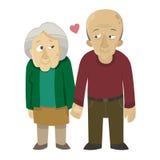 在爱的老夫妇 库存图片