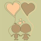 在爱的逗人喜爱的夫妇 免版税库存图片
