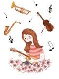 在爱的音乐 库存例证