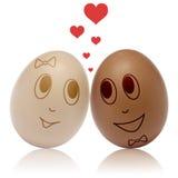 在爱的鸡蛋 免版税库存图片