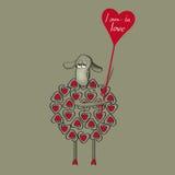 在爱的绵羊 库存照片